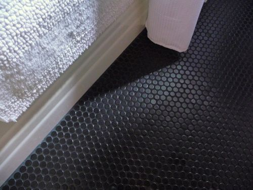You Searched For Penny Tile Black Rounds With Grout Sharp