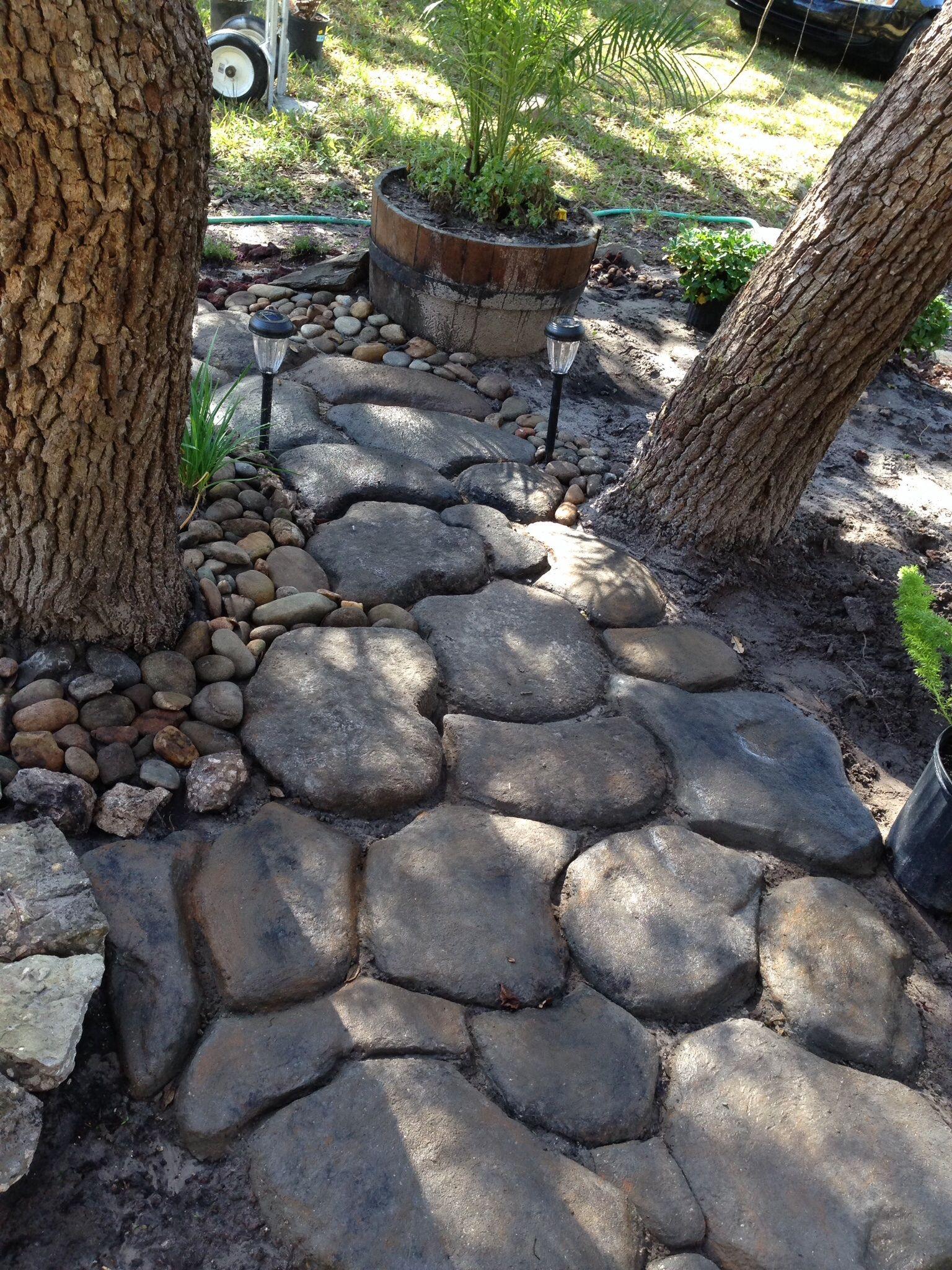 DIY rock path through meditation garden (With images ... on Meditation Patio Ideas id=74598