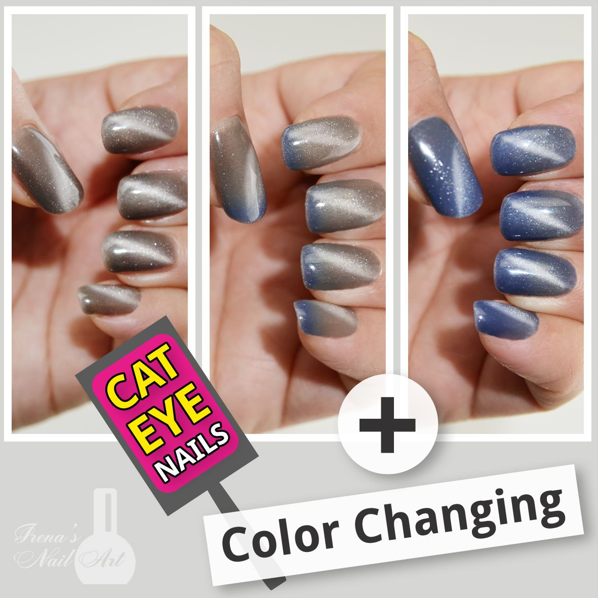 Cat Eye Gel Polish with Color Changing DIY at