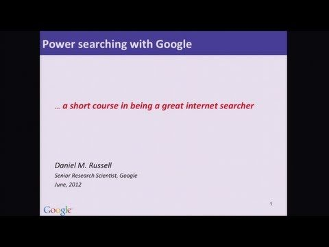 Power Searching with Google Lesson 1.1