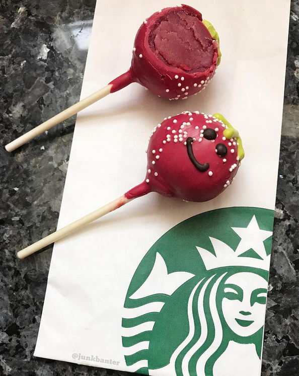 Starbucks Strawberry Flavored Cake Pop