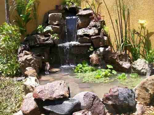 Como Hacer Una Fuente Con Piedras De Rio Buscar Con Google Jardines Piedras De Rio Como Hacer