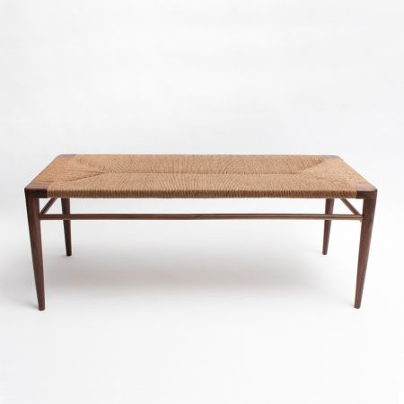 Miraculous Woven Rush Bench Furniture In 2019 Furniture Bench Machost Co Dining Chair Design Ideas Machostcouk