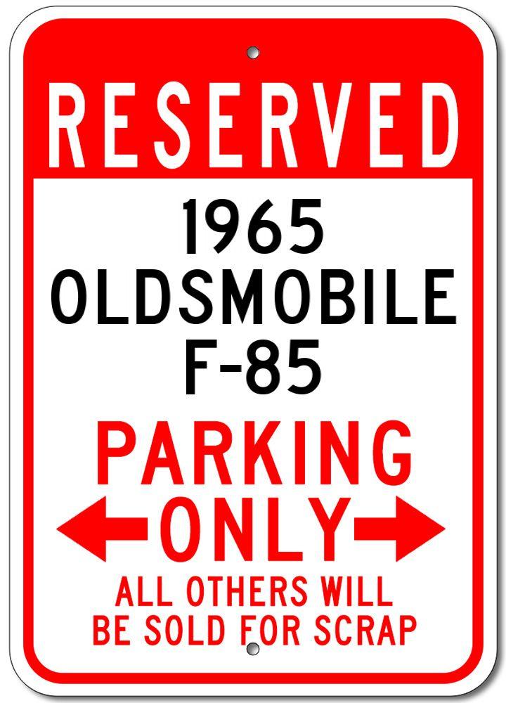 1965 65 PONTIAC BONNEVILLE Parking Sign
