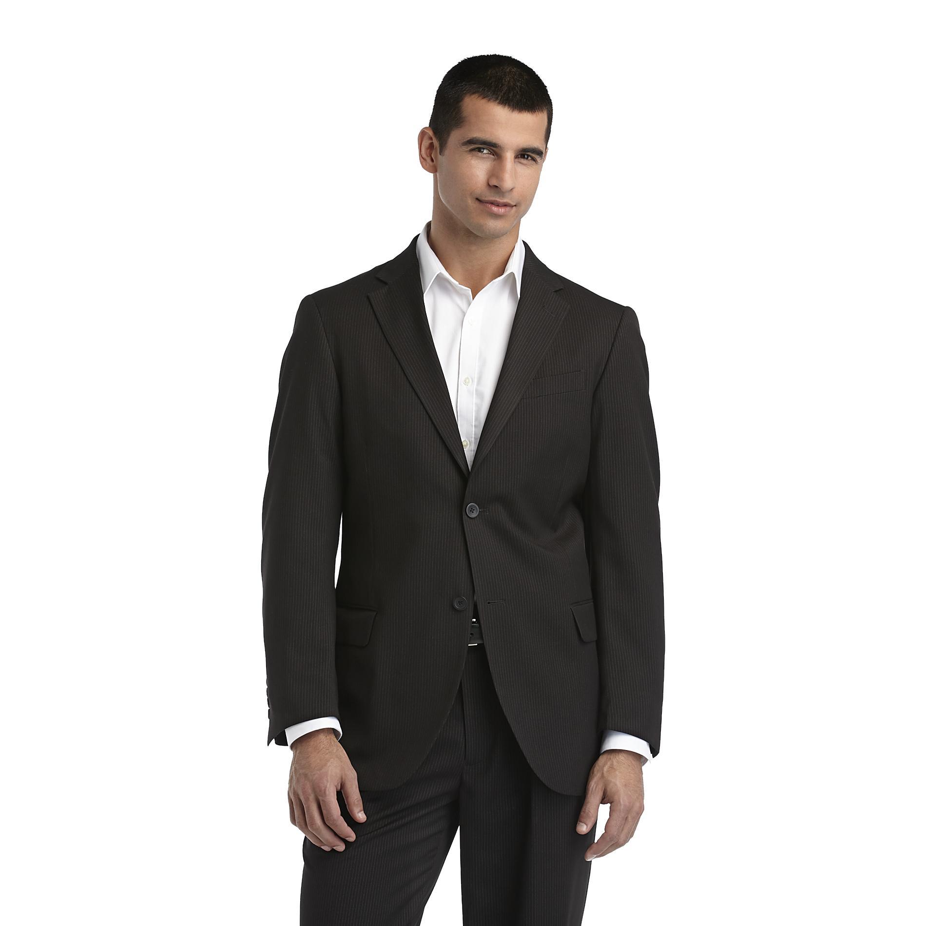 Dockers Men s Suit Coat Pinstripe Black 46 Chest Review