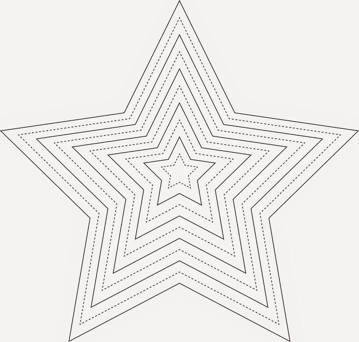 schnittmuster weihnachten stern  vorlage stern sterne