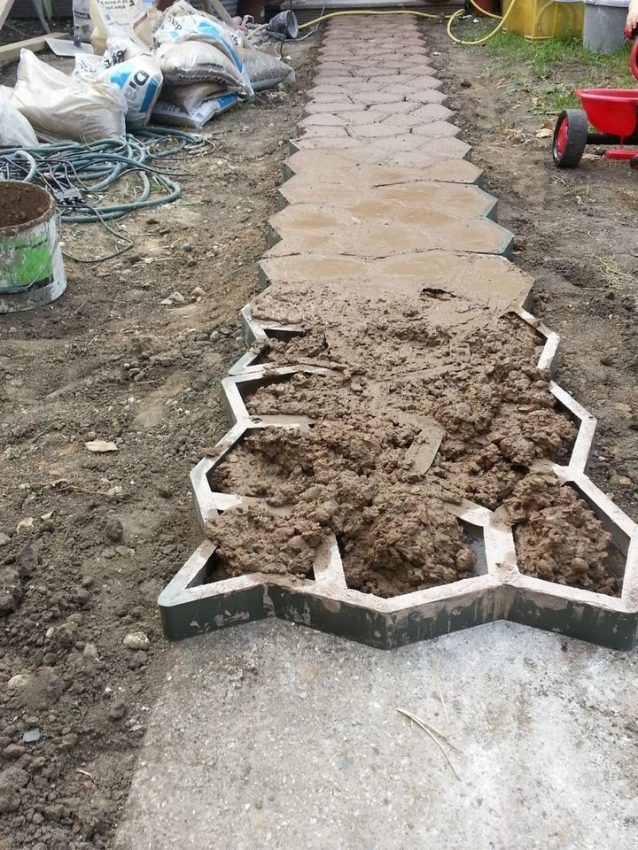 Careful Garden Path Maker Mold Reusable Concrete Cement Stepping Stone Design Paver Walk Mould Diy Plastic Brick Mold Home Garden Tools By Scientific Process Garden Buildings Home & Garden