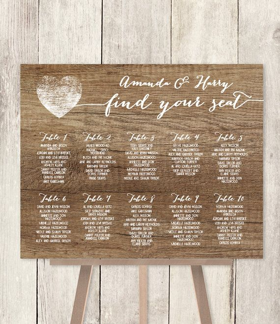 10 off with coupon code pin10 rustic wedding seating chart sign 10 off with coupon code pin10 rustic wedding seating chart sign diy rustic fandeluxe Choice Image