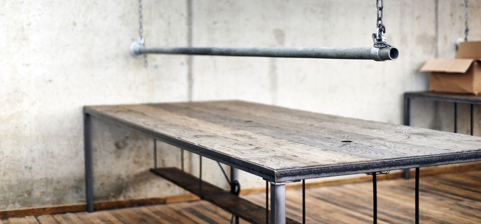 Bespoke office desks for Amigo Loans, Bournemouth | Steel Vintage ...
