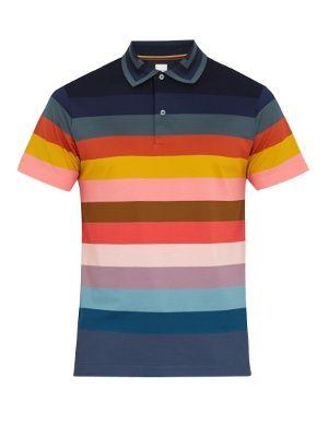 Tommy Hilfiger Men Short Sleeve Classic Fit Stripe Pique Polo Shirt-$0 Free Ship