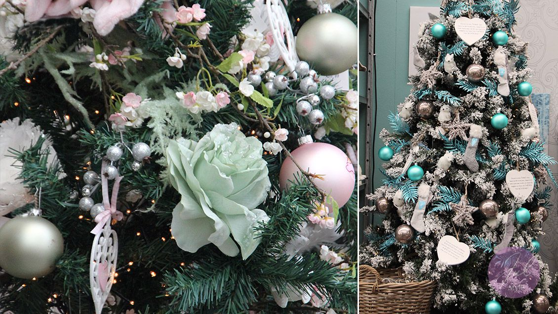weihnachtsbaum dekoration in gr n mint. Black Bedroom Furniture Sets. Home Design Ideas