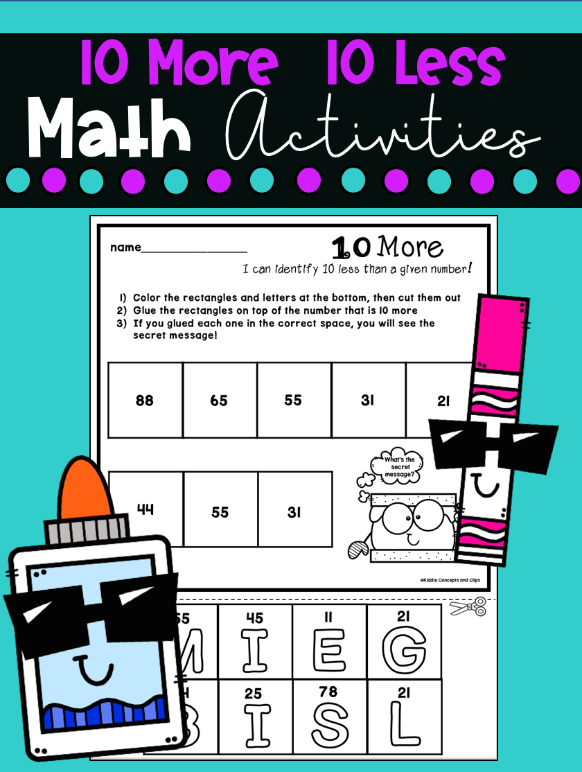Free 10 More 10 Less Math Activities Math Activities Free Math Worksheets Math [ 1114 x 840 Pixel ]