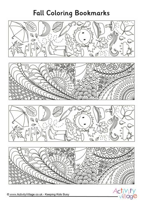 Pin By Alexis King Artworks On Crafty Things Coloring Bookmarks Autumn Bookmark Coloring Bookmarks Free