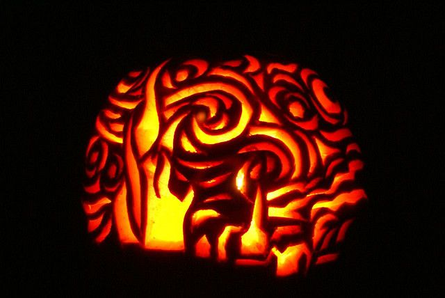 Pumpkin Carving Starry Night By Orangesoc12 Via Flickr