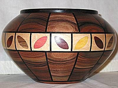 Segmented Wood Turning Segmented inlaid wood bowl ♠️♠️️WOOD SCULPTURES : More At FOSTERGINGER @ Pinterest ️♠️♠️