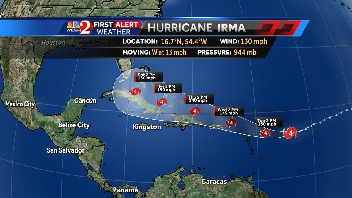 Irma Has Grown Thursday Morning From A Tropical Storm Into A Category 3 Hurricane The National Hurrica National Hurricane Center Weather Hurricane Belize City