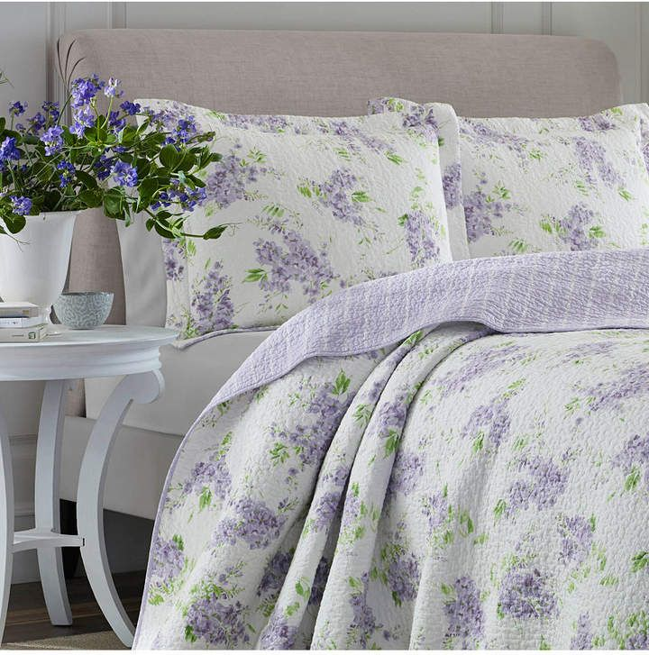 Laura Ashley Full Queen Keighley Pastel Purple Quilt Set Amp Reviews Quilts Amp Bedspreads Bed
