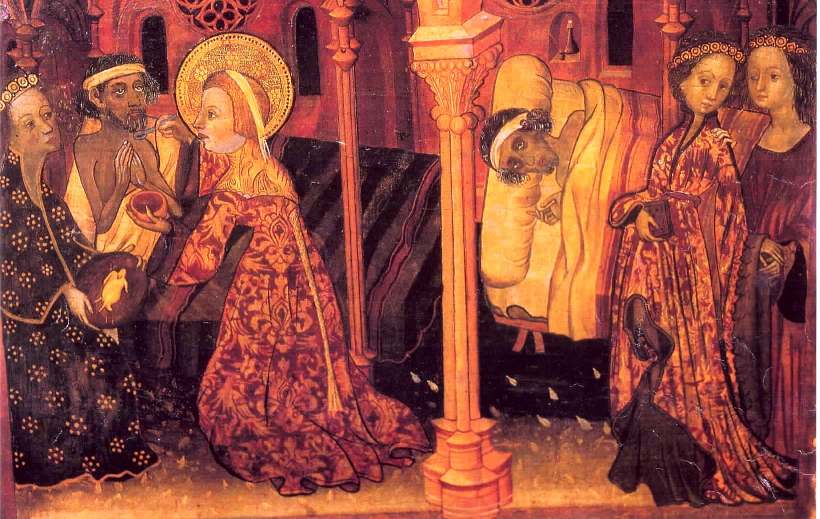 1401 Guerau Gener St Isabelle Tending The Sick Gothic Art Art Painting