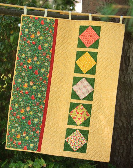 Wooo Are You Wall Hanging Kit Look Closely And You Ll See The Wise Owl Peeking Through The Trees The Pine Needle Quilt Shop Quilts Quilt Kit Quilt Kits