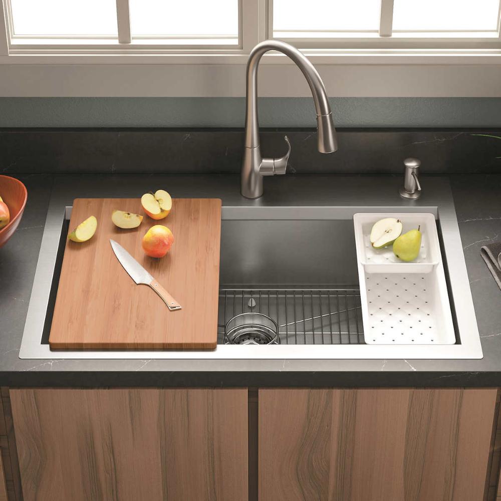 Kohler Cater Accessorized Kitchen Sink In 2020 Kitchen Sink Corner Sink Kitchen Sink