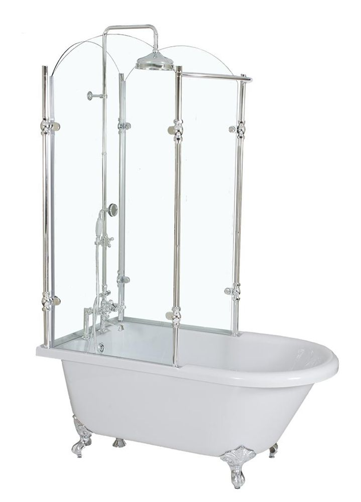 Oasis 65 Shpk 65 Extra Wide Classic Clawfoot Shower Tub With