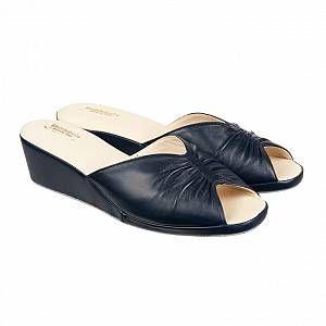 Photo of DALCO pantofole in vera pelle con tacco e suola antiscivolo per donna
