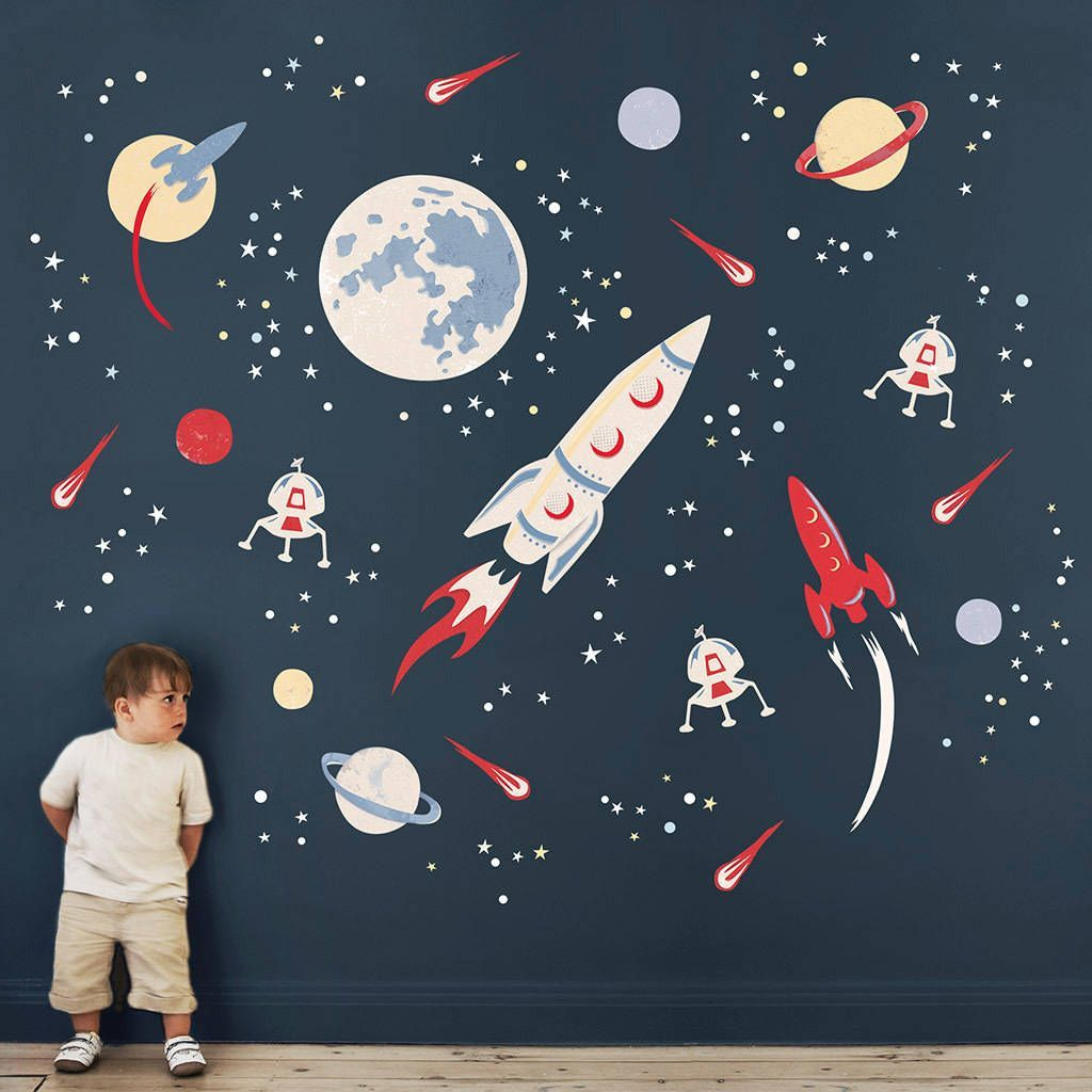 √ 10+ Incredible Space Themed Bedroom Ideas  Space wall decals