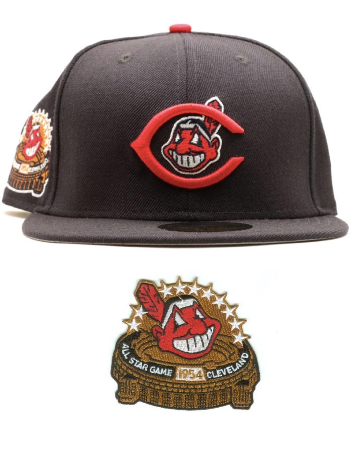 Cleveland Indians 1954 Allstar Game Era 59fifty Fitted Baseball Cap Fitted Baseball Caps New Era Hats Fitted Hats