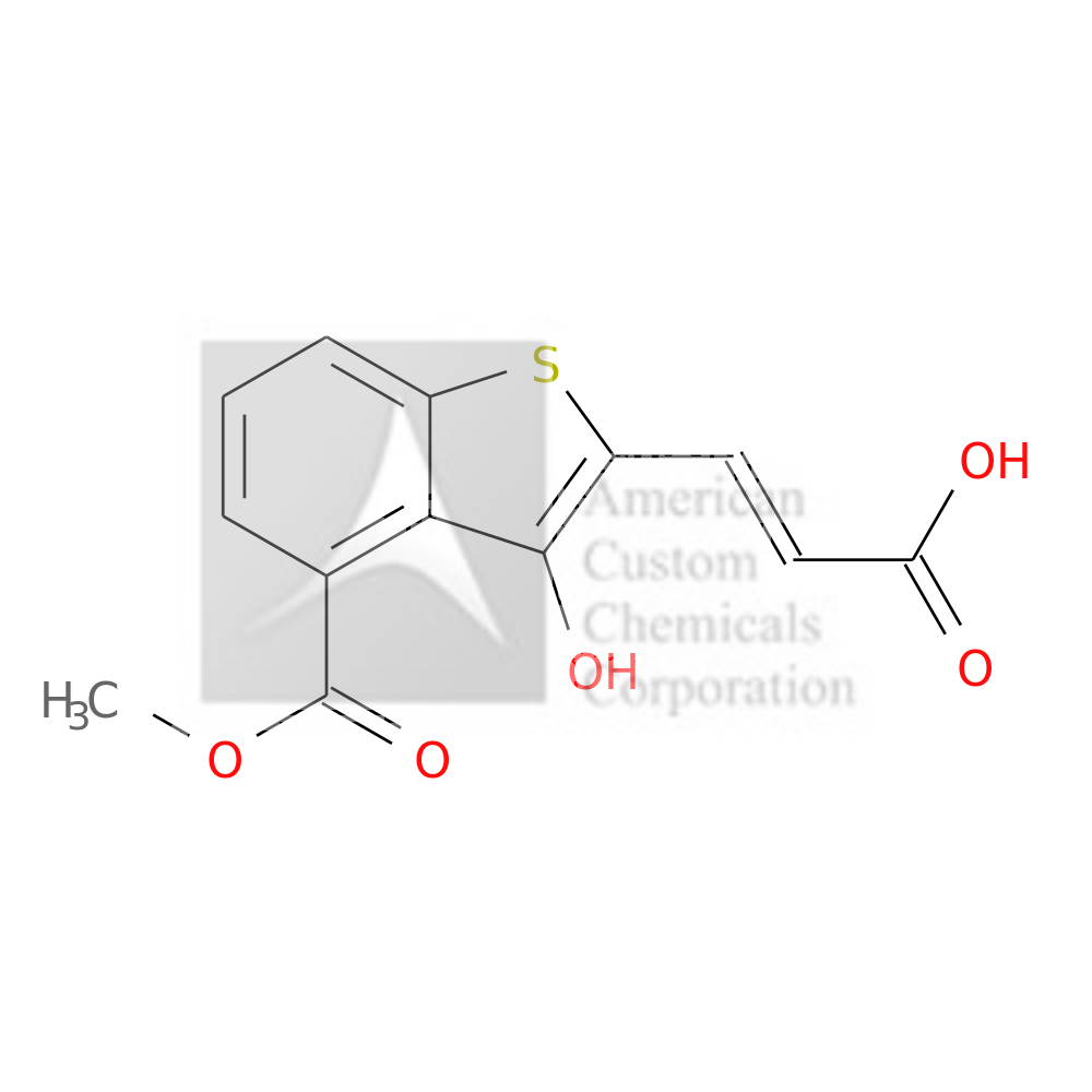 (E)-3-(3-HYDROXY-4-(METHOXYCARBONYL)BENZOTHIOPHENE-2-YL)ACRYLIC ACID is now  available at ACC Corporation