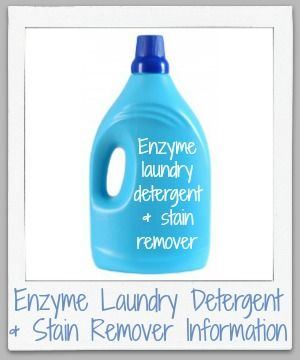 Enzyme Laundry Detergent Stain Removers Facts Instructions
