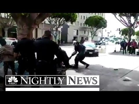Nbc News Lapd Shooting Of Homeless Man Caught On Camera Nbc Nightly News Homeless Man Nightly News