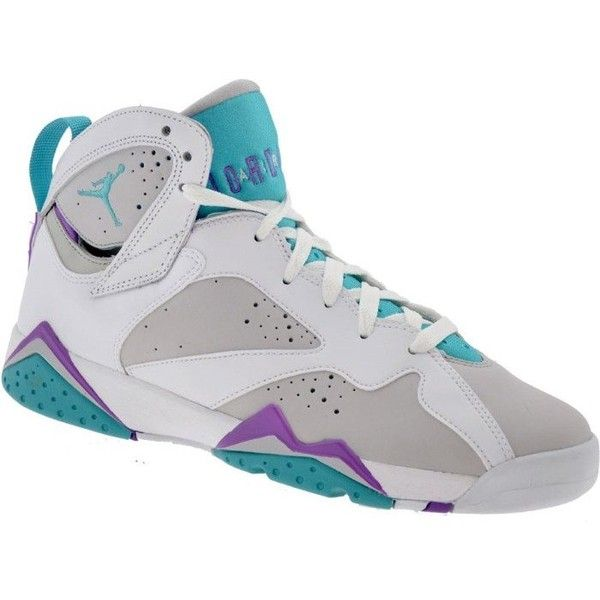 05a6f84da61d93 Air Jordan 7 Mineral Blue Purple GS ❤ liked on Polyvore