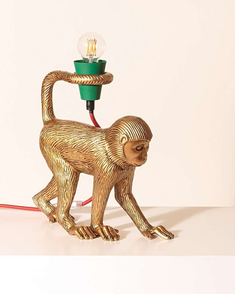 Mika Monkey Gold Table Lamp Table Lamp Lighting Table