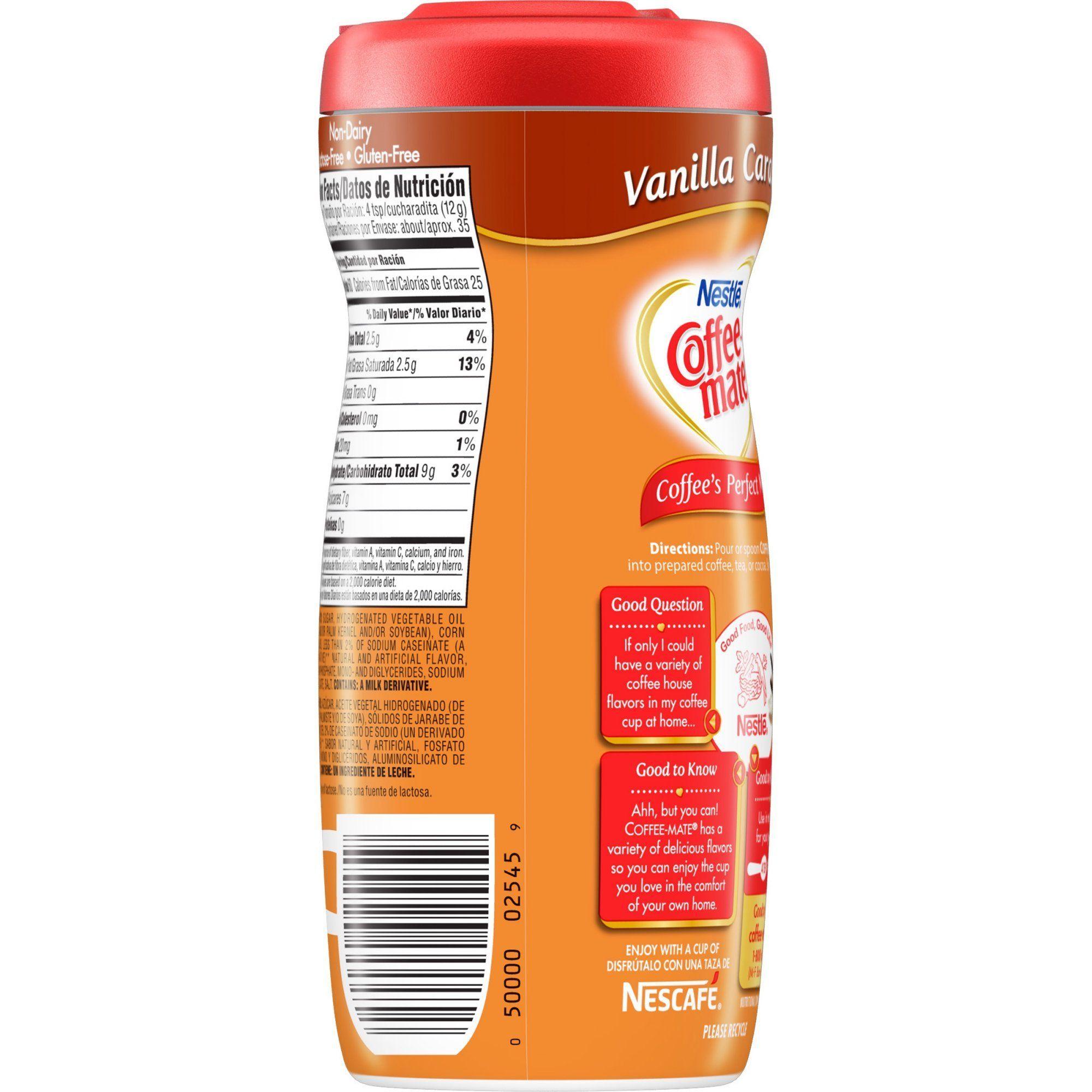 Coffeemate vanilla caramel powder coffee creamer 15 oz