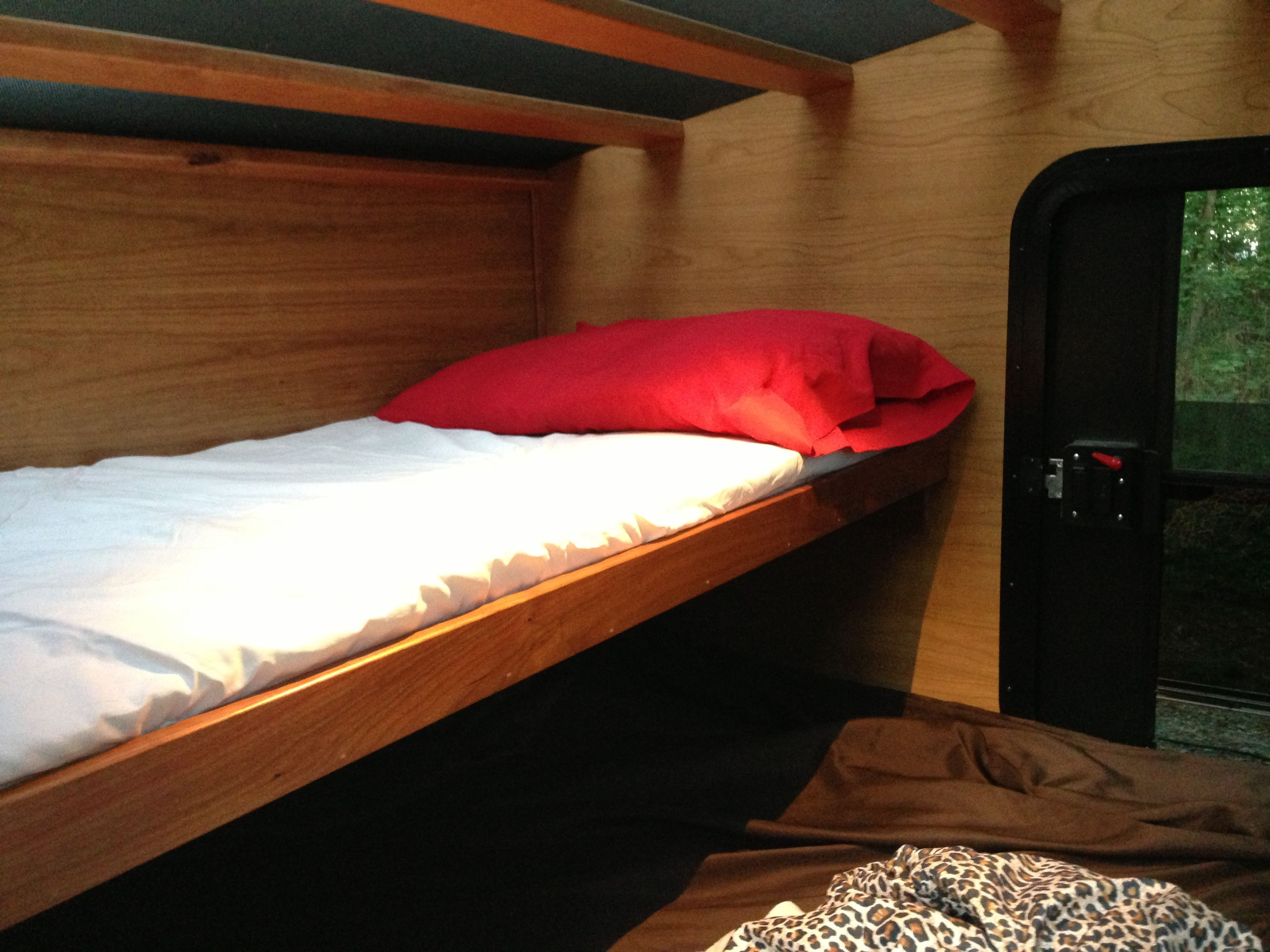 Fold Down Bunk Beds Optional Fold Down Bunk In Our 5x8 Model Teardrop Camper