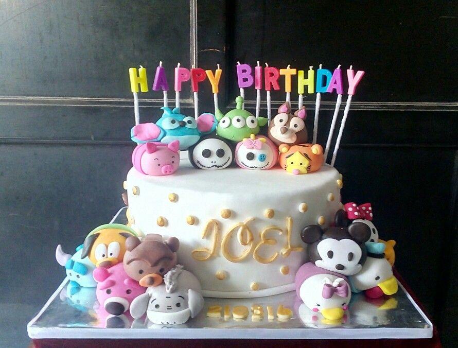 Disney TsumTsum Birthday Cake MY CAKES Pinterest Disney