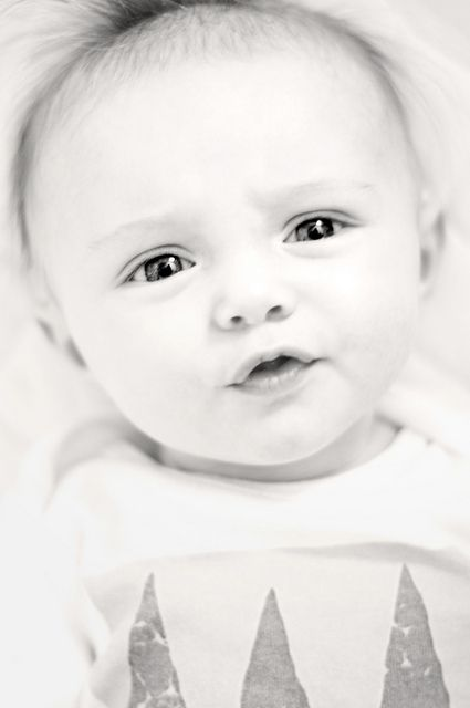 black and white photos of babies are adorable.
