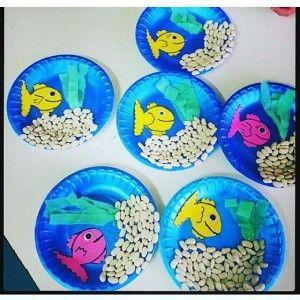 paper plate Aquarium craft (5) | Aquarium craft ideas for kids ...