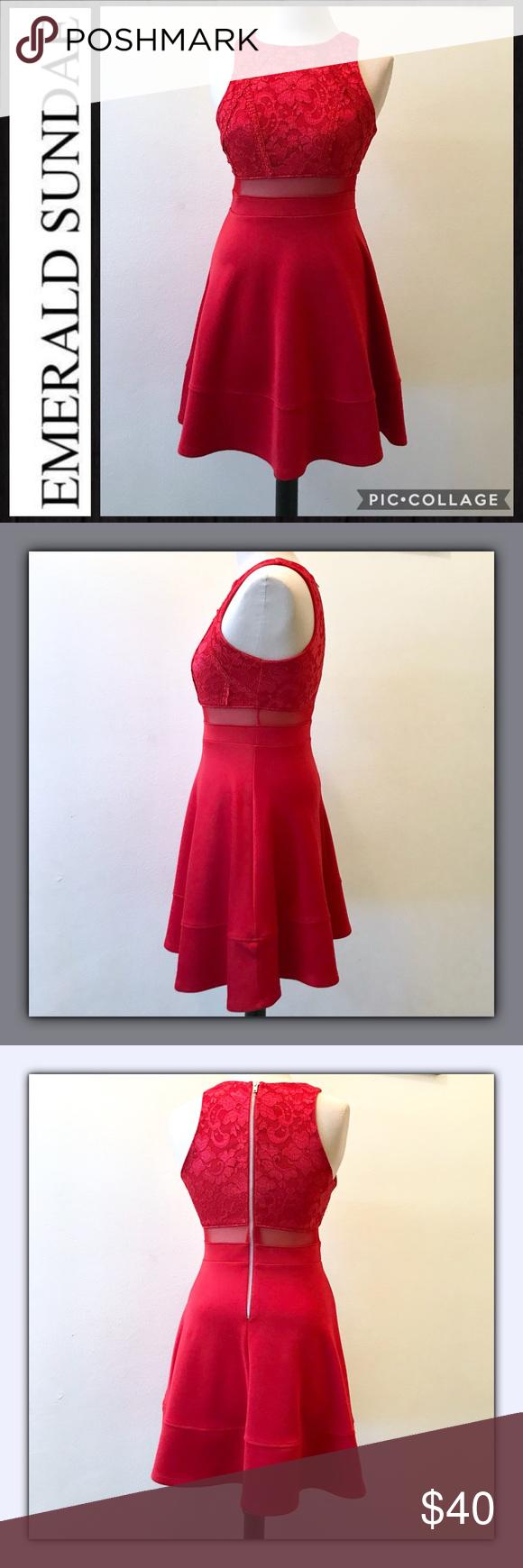 Emerald sundae red party dress pinterest