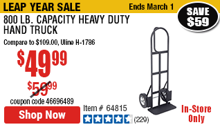 800 Lb Capacity Heavy Duty Hand Truck In 2020 Hand Trucks