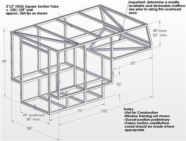 build your own truck camper plans - Google Search | Camper
