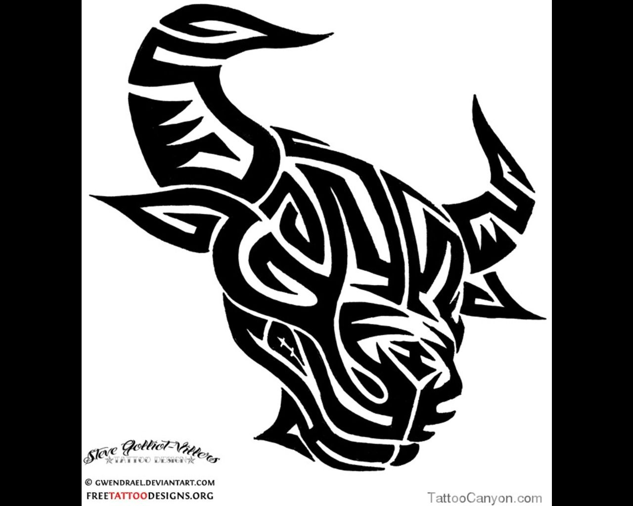Pics photos taurus tattoos bull tattoo art - Bull Head Art Taurus Tattoostattoo