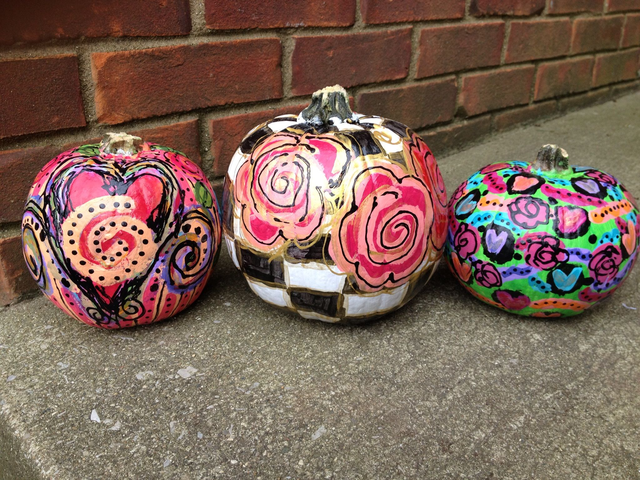 Painted Pumpkins!! Loved painting them! www.artinspirations.com
