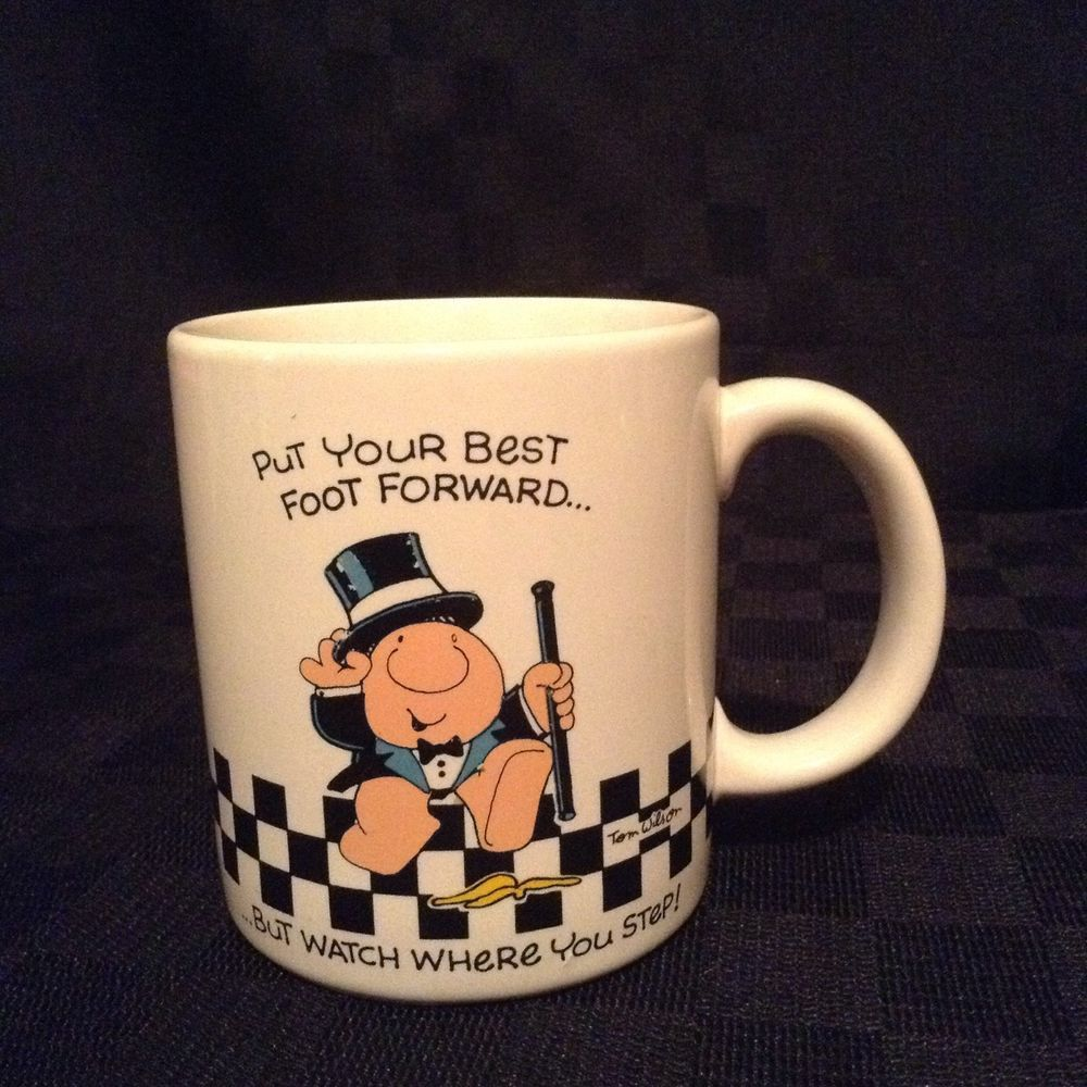 American Greeting Ziggy Cartoon Put Your Best Foot Forward Coffee Cup Mug #DesignersCollection