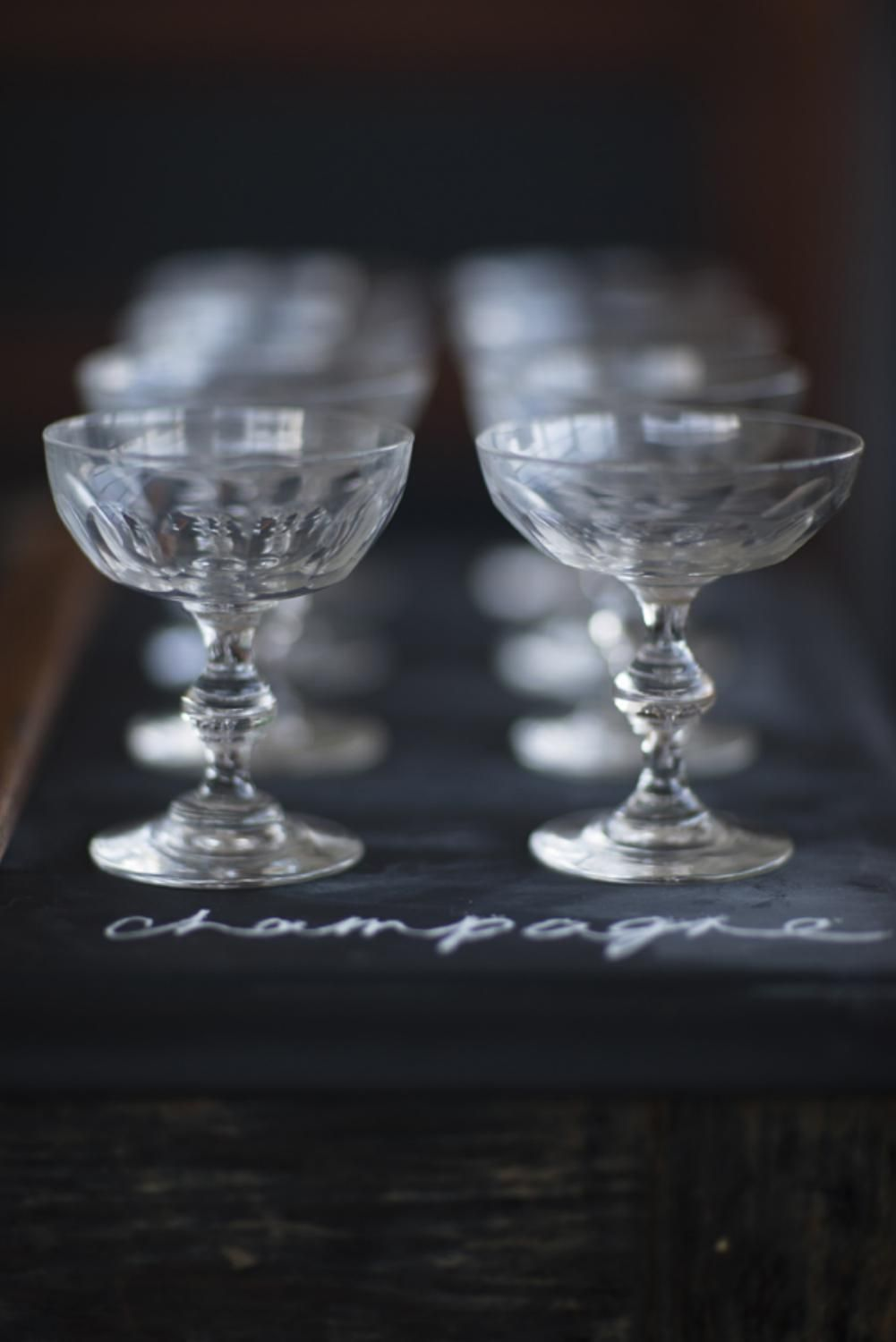 Crystal Champagne Coupes C 1870 Champagne Saucers Champagne Crystal Champagne