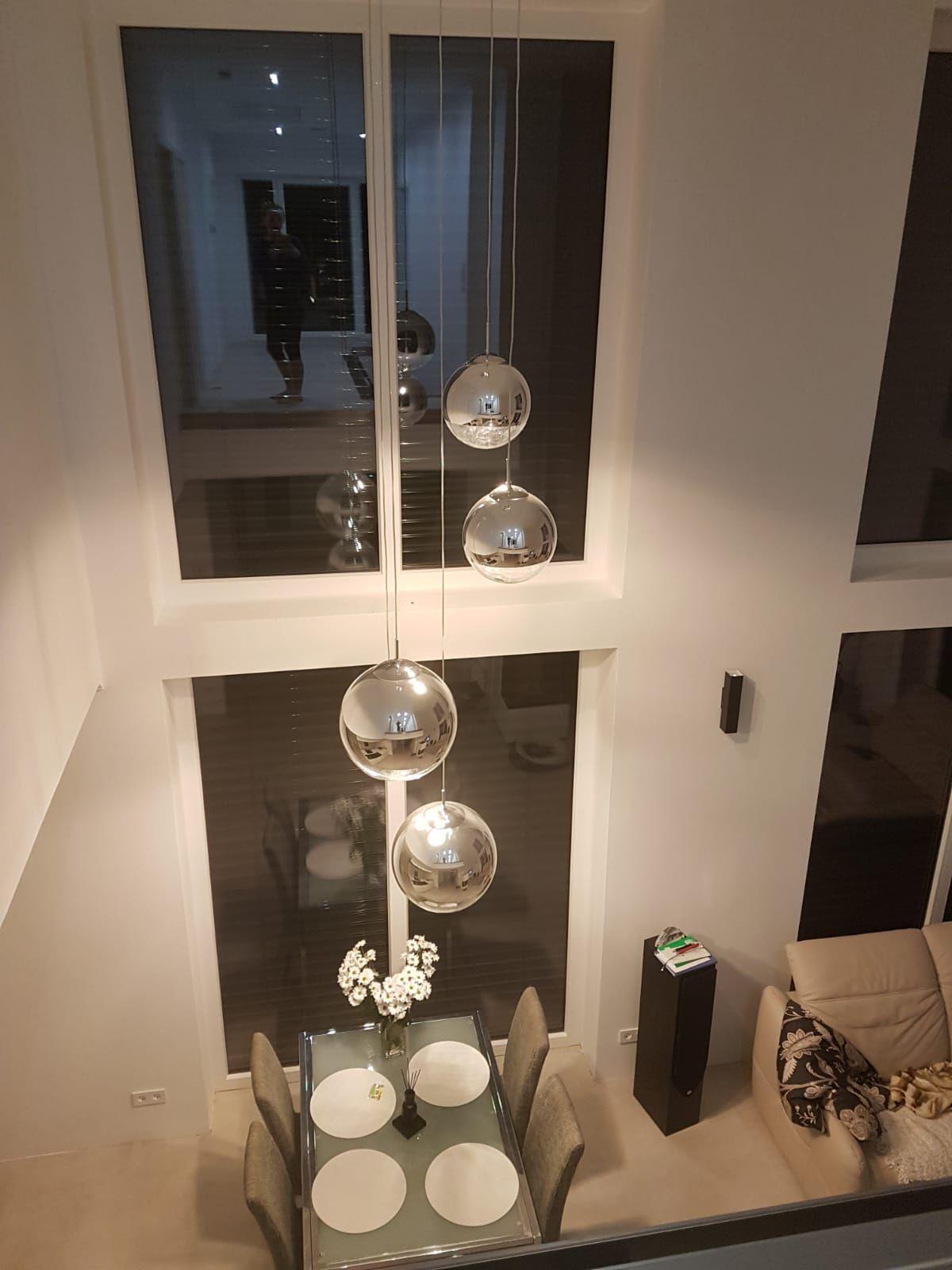 S Luce Fairy Spiegelkugel Pendelleuchte O 30cm Chrom 10744 Esszimmer Beleuchtung Hangeleuchte Esstisch Beleuchtung