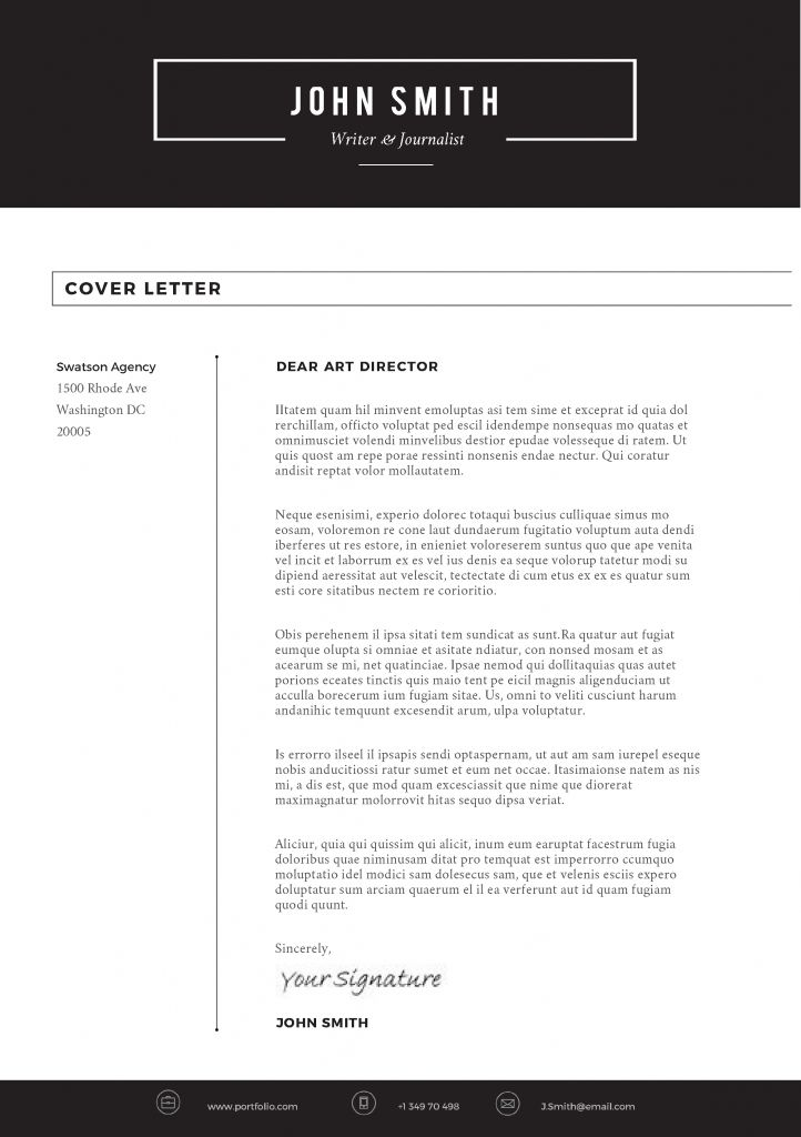 List Style 1 Color Yes File Format Microsoft Word Doc Color Black And Whit Cover Letter Design Cover Letter For Resume Simple Cover Letter Template
