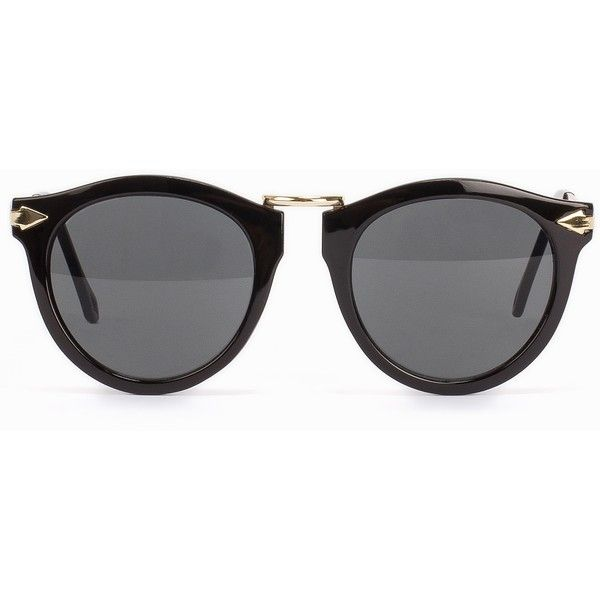 Nly Accessories Retro Sunglasses (650 THB) ❤ liked on Polyvore featuring accessories, eyewear, sunglasses, black, womens-fashion, retro style glasses, retro style sunglasses, retro eyewear, retro glasses and retro sunglasses