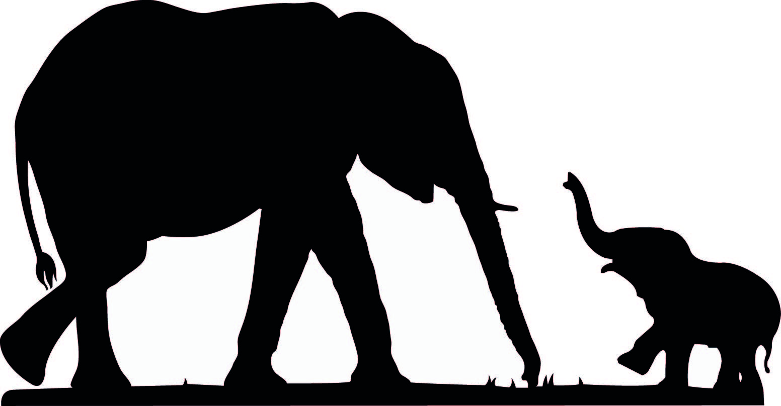cute elephant silhouette elephant silhouette mother and baby