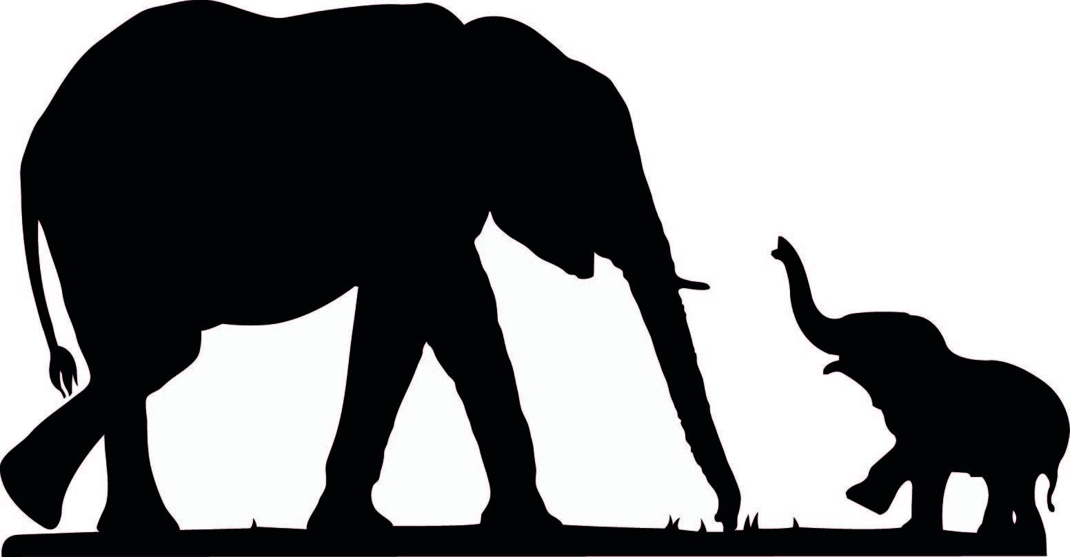 Cute Elephant Silhouet...